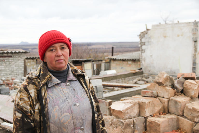 "Jelena has had a tough life. She has live it the village Zolotarivka in eastern Ukraine her whole life, with a husband with drinking problems, a daughter and a son. Some years ago her son, who provided the whole family was killed in an accident. After that she has been living in this house with her daughter (28). During the shelling that lasted for 15 days, between 12th and 25th of July 2014, her house was hit by a rocket, and damaged so badly that it could not be rebuilt. The kitchen was the only room that was not completely demolished. The rest of the house had to be rebuilt. When she returned and saw the damage, she said: ""I want to die, they have destroyed my home and my life"". Jelena has been moving around to stay with different friends for 18 months since the grenade hit. NRC has provided her with building materials, and the local community has given her some money to pay for the workers to help rebuild the house. Now Jelena is looking forward to have her home rebuilt. She hopes that she can move in before winter. She says: ""finally I have hopes in my life, I can get back to the life I had before"".   Quotes jelene (transcript from video interview) This used to be my home. In the night between 13th and 14 of July it got destroyed. When I came home from the bomb shelter I was overwhelmed by emotions. I did not want to live, because I had no place to live anymore. This used to be my home. In the night between 13th and 14 of July it got destroyed. When I came home from the bomb shelter and saw all these horrors. I was overwhelmed by emotions. I did not want to live, because I had no place to live anymore. Thanks to the NRC who helped me so much, I now have a hope. I hope that it will be rebuilt and I am waiting until it is rebuilt, so that I can live at home.  I am very thankful to NRC for their great help. Of course you helped very much and now the hope is emerging that I will live in my home. Thank you very much."