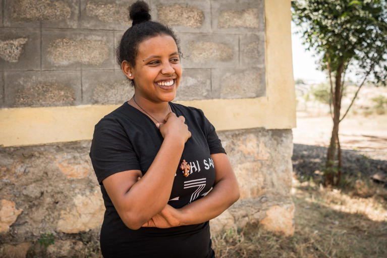 "Eden Tedros, 20 years old, from Eritrea.  ""I want to travel to Europe, but I want to travel safely,"" says 20-year-old Eden Tedros.  ""I want to travel to Europe, but I want to travel safely,"" says 20-year-old Eden Tedros.   She tells us that a growing number of young Eritreans choose to leave their home country. Tedros is one of many who left in fear of spending her whole life in the military.  Tedros has lived as a refugee in Hitsats refugee camp in northern Ethiopia since June 2017. The closest city is far away and the refugees survive on food and water rations.  For many children and youth in Hitsats refugee camp, it's hard to imagine a future in Ethiopia. Four out of ten refugees leave Shire after three months. But Tedros has an opportunity to live out her dream.  She is studying to become a certified chef at NRC's youth education centre in Shire.  ""My biggest dream is to work in a restaurant in Europe.""   Many young Eritreans opt to leave their home country through dangerous migration routes to escape poverty.   But Tedros is hesitant to travel the seaway across the Mediterranean.  In 2017, over 300,000 refugees and migrants drowned during their attempt to cross the ocean.  ""I don't think I will travel the dangerous route.""  Photo: Beate Simarud/NRC Facts and figures:  Eritreans are the third largest group of refugees living in Ethiopia, with 37,321 refugees currently registered in refugee camps in the Shire area camps.   Currently there are 163,281 Eritrean refugees in Ethiopia.  It is estimated that nearly 40 per cent of Eritrean refugees leave the camps within the first three months of arrival, and 80 per cent leave within the first year, with significant numbers of the population departing irregularly from Ethiopia to third countries – often with the assistance of smugglers and at great risk to their lives.   The population in the Shire camps is unique, with a large number of children below the age of 18 and unaccompanied children.   As of June 2017, 72 per cent of the refugees living in Shire were under the age of 18, including 4,725 unaccompanied and separated children, representing approximately 11.5 per cent of the total refugee population.   Unaccompanied and separated children live in a variety of care arrangements, including community care, foster care, or family-based care."